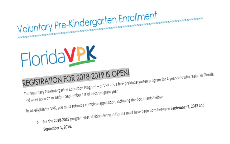 Voluntary Pre-Kindergarten Enrollment
