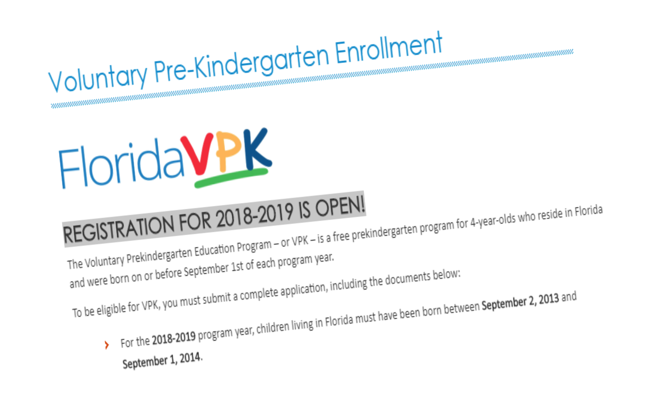 Voluntary Pre-Kindergarten Enrollment