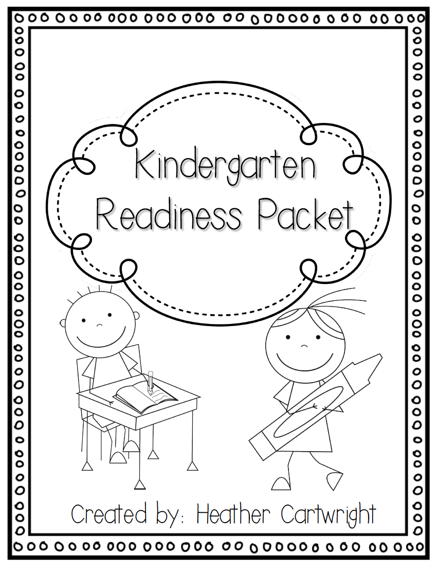 Free Kindergarten Readiness Packet