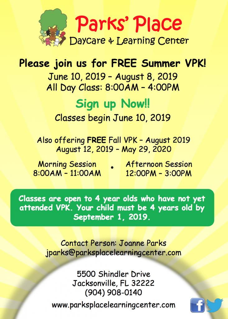 Free Summer VPK